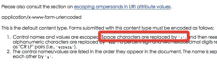 HTML4.01标准对于空格编码的说明